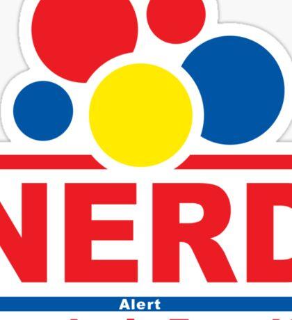 nerd alert white  Sticker