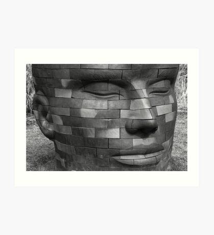 Brick Head Art Print