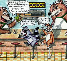 Fun at the Diner by Roger Adkins