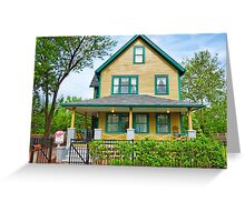 A Christmas Story House  Greeting Card