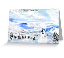 Snowman Wonderland Greeting Card