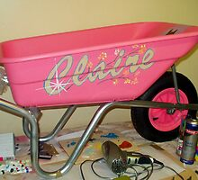 The Pink Wheelbarrow by oulgundog