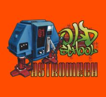 Old School Astromech - Back Kids Clothes