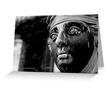 Sculpture Head Detail | Old Westbury, New York  Greeting Card
