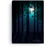 Woodland Moonlight Canvas Print