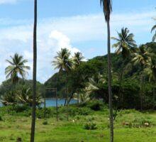 a sprawling Nicaragua landscape Sticker