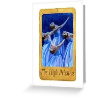 Ballet Tarot Cards: The High Priestess Greeting Card