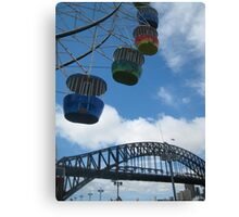 Sydney Harbour Ferris Bridge Canvas Print