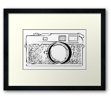 Vintage Photo Camera Framed Print