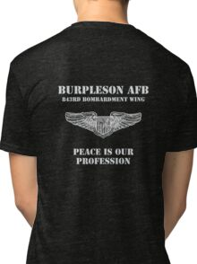 Burpleson AFB - Peace is our Profession Tri-blend T-Shirt