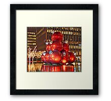 Christmas in New York City Framed Print