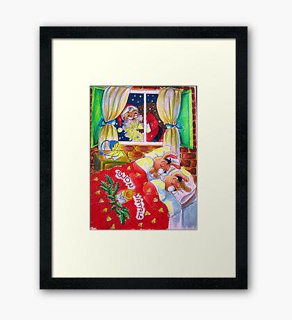 Waiting for Santa Claus Framed Print