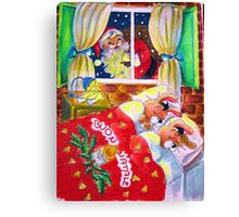 Waiting for Santa Claus Canvas Print