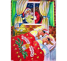 Waiting for Santa Claus Photographic Print
