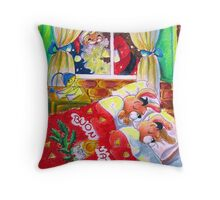 Waiting for Santa Claus Throw Pillow