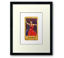Ballet Tarot Cards: Justice Framed Print
