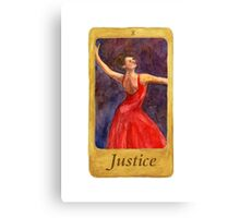 Ballet Tarot Cards: Justice Canvas Print