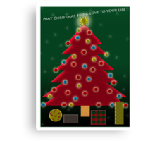 May Christmas bring love to you; this is my wish for you.   Canvas Print