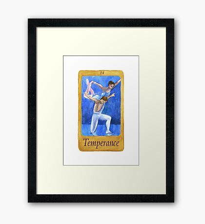 Ballet Tarot Cards: Temperance Framed Print