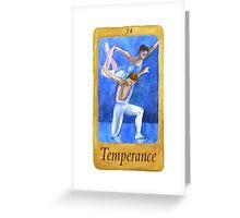 Ballet Tarot Cards: Temperance Greeting Card
