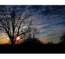 Tangerine Sunset 2 Photographic Print