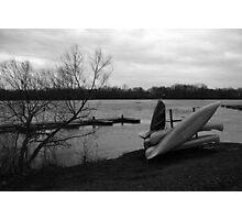 Reservoir Canoes Photographic Print