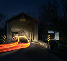 Covered Bridge at Night by Mark Van Scyoc