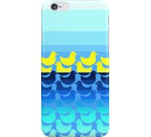 Cute Yellow Ducky on Blue Gradient Water iPhone Case/Skin