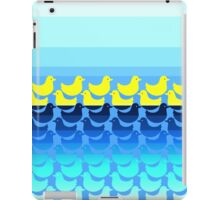 Cute Yellow Ducky on Blue Gradient Water iPad Case/Skin