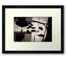 Tough Competition Framed Print