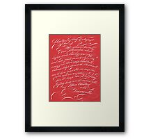 United's Flag is Deepest Red Framed Print