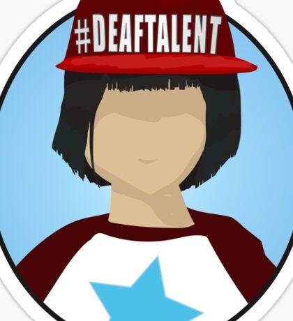 #DEAFTALENT Girl Sticker