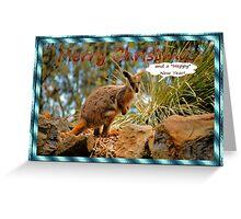 MERRY CHRISTMAS CARD - WALLABY - KANGAROO Greeting Card
