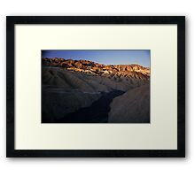 Dry River Bed, Zabriskie Point, Death Valley, CA Framed Print