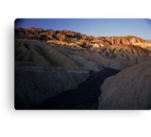Dry River Bed, Zabriskie Point, Death Valley, CA Canvas Print