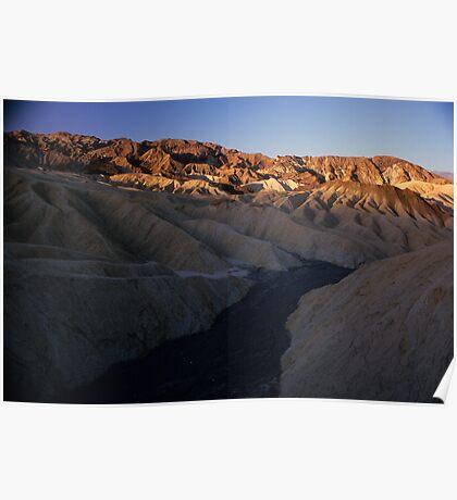 Dry River Bed, Zabriskie Point, Death Valley, CA Poster