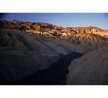 Dry River Bed, Zabriskie Point, Death Valley, CA Photographic Print