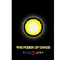 The Power of Chaos - Golden Flash Photographic Print