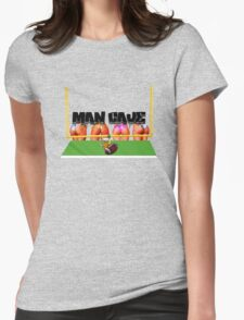 Man Cave Football Womens Fitted T-Shirt