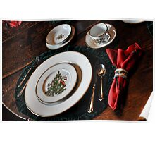 Christmas Place Setting Poster
