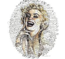 Marilyn Monroe Calligraphy by schinloong