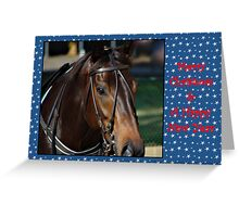 HORSE CHRISTMAS CARD STARS - MERRY CHRISTMAS & HAPPY NEW YEAR Greeting Card