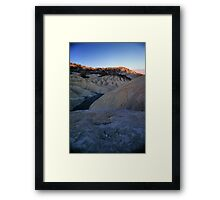 Morning Light On Zabriskie Point, Death Valley, CA Framed Print