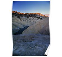 Morning Light On Zabriskie Point, Death Valley, CA Poster
