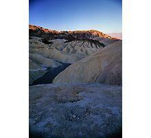 Morning Light On Zabriskie Point, Death Valley, CA Photographic Print