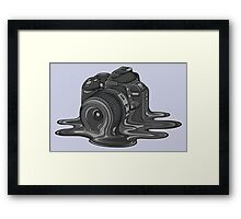 Camera Melt Framed Print