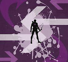 Hawkeye Arrow Print by ThreadofLife