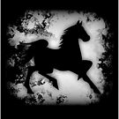 Western-look Black and White Horse Silhouette by NaturePrints