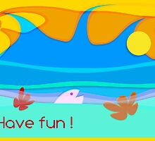 ocean fun _ vacations card_text by 1001cards