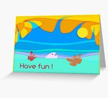 ocean fun _ vacations card_text Greeting Card